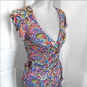 ANTHROPOLOGIE Sweetees Silk Wrap Dress Size XS